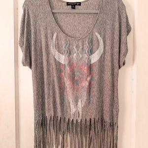 Fringe Oversized Shirt